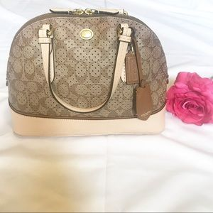 Coach Peyton Perforated PVC Cora Domed Satchel 🎁